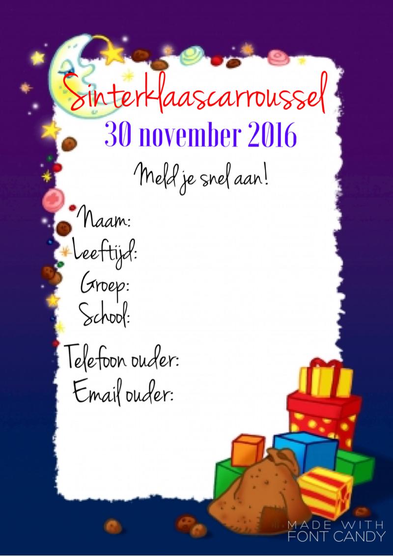 Villa Vonk 30 November 2016 Sinterklaascarroussel Villa Vonk